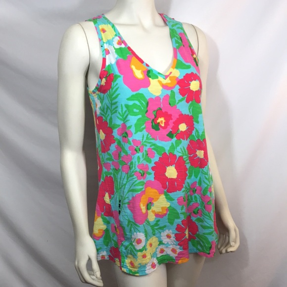 Lilly Pulitzer long tank/swim cover up, size M EUC